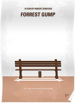 No193 My Forrest Gump minimal movie poster by Chungkong