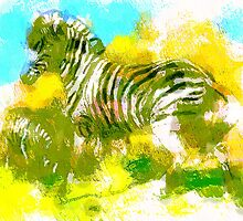 Abstract Zebra by Tickleart