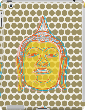 Buddha's Smile Oriental Zen Pop Art by fatfatin