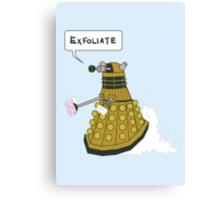 EXFOLIATE Dalek Canvas Print
