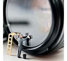 Cleaning a Lens (Micro world no 1) Photographic Print