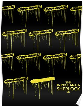 Sherlock Minimalist poster-style Shirts and art-The Blind Banker, S1E2 by ShubhangiK