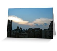 view from a penthouse in manhattan  Greeting Card