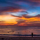 Sunset Karon Beach Thailand by MikeAndrew