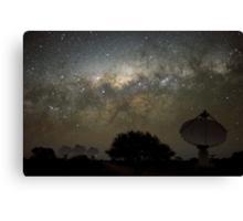 ASKAP Radiotelescope at Night Canvas Print