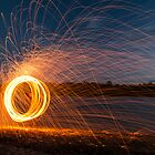 Sparks on the beach by RichardCurzon