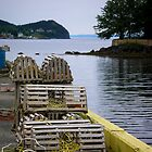 Lobster Pots by Heather Rowe of Oil Water Artt