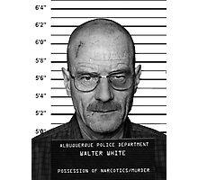 Walter White Heisenberg Mug Shot Photographic Print