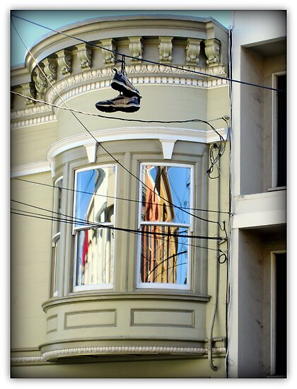 Hanging Shoes With Both Sides Now... by Michael May