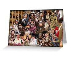 ❀◕‿◕❀ CAPTURE OF INDIAN DOLLS ❀◕‿◕❀ Greeting Card