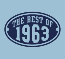 THE BEST OF 1963 Birthday T-Shirt Navy by MILK-Lover