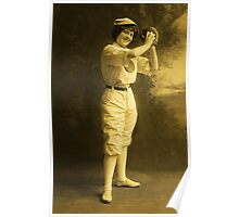 Female Baseball Player Poster