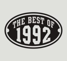 THE BEST OF 1992 Birthday T-Shirt Black by MILK-Lover