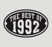 THE BEST OF 1992 Birthday T-Shirt Black by MILK-Lover