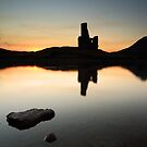 Ardvreck Castle Sunset by Grant Glendinning