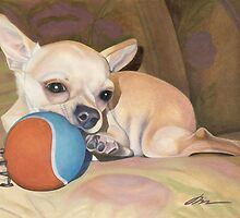 Tiny and Tenacious Portrait of an Applehead Chihuahua by Nancy Daleo
