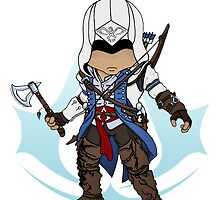 Assassin's Creed 3: Connor Chibi: Animus Edition by SushiKittehs