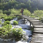 Bridge Over Plitvice Waters by StuartAJohn
