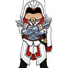 Ezio AC Brotherhood Chibi by SushiKitteh&#x27;s Creations