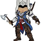 Connor AC3 Chibi by SushiKitteh&#x27;s Creations