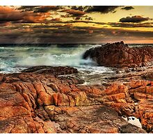 Seascape at Anna Bay Central Coast NSW by Jorge's Photography