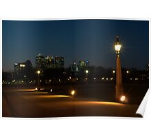 """ Nightscape In Greenwich "" Poster"