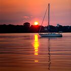 Sailboat Sunrise by KellyHeaton