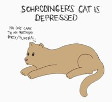 """Schrodinger's Cat Is Depressed"" by FabFari"