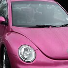In The Pink VW Car by lynn carter