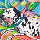 Laughing Dalmatian  Psychedelic Dalmatian Art by Nancy Daleo