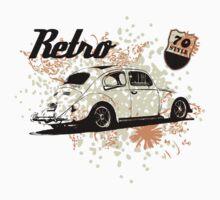 Retro BUG 70's T-Shirt by MILK-Lover