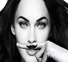 Megan moustache by theonlynonam