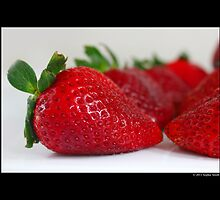 Fragaria x Ananassa - Fresh Garden Strawberries by © Sophie W. Smith