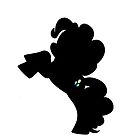 Pinkie Pie Silhouette by Ghretto