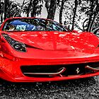Red Ferrari 458 Italian Sports Car by chris-csfotobiz