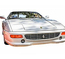 White Ferrari F355 GTS Italian Sports Car by Chris L Smith