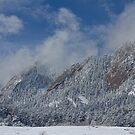 Flatiron Snow Dusting Boulder Colorado by Bo Insogna