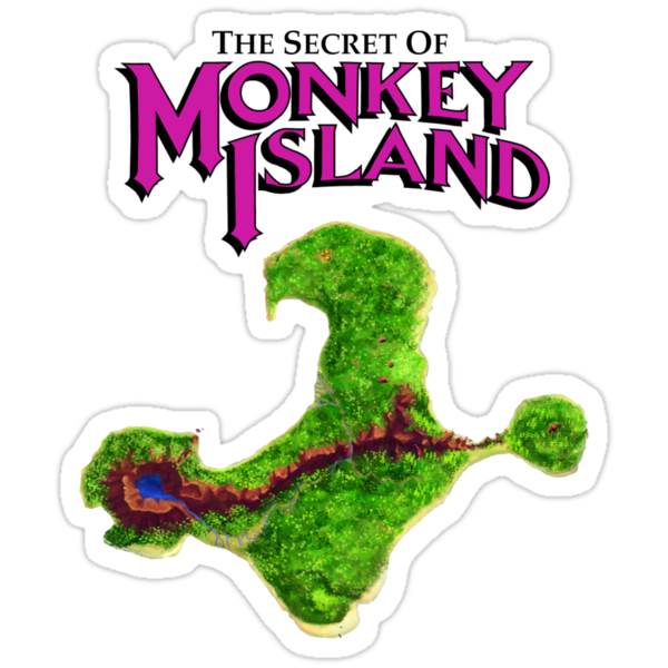 Monkey Island Map Retro DOS game fan shirt by hangman3d