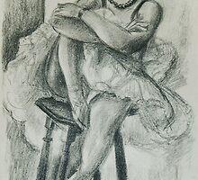Henri Matisse, Dix Danseuses: Danseuse au Tabouret (Ten Dancers: Dancer on a Stool), c. 1925-26  by masterworks