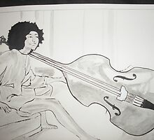 Double bass  by Colin  Laing