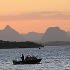Hoping to Catch a Few!  Sunset Bribie Island, Queensland. by Rita Blom
