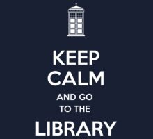Keep calm and go to the library shirt Kids Clothes