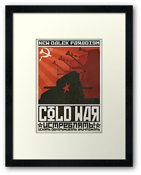 "Dalek Cold War Poster ""Oh My Red Stars"" by ToneCartoons"