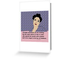 Proverbs 31 Woman of wisdom Greeting Card