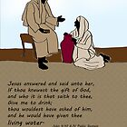 Living Water - Jesus and woman at the well by Kate Farrant