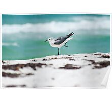 Beach Yoga - 2nd Pose Poster