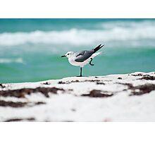 Beach Yoga - 2nd Pose Photographic Print