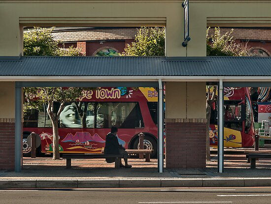 Bus stop by awefaul