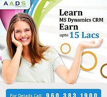 Aads Education has launched an offer for online MS Dynamics CRM Training Course by aadseducation