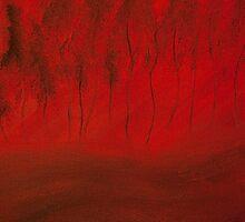 Angry Little Trees Close Up by Oksana Fox